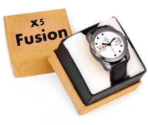 X5 Fusion BK_STRP_WT_BIG_3_BOX Analog Watch  - For Men