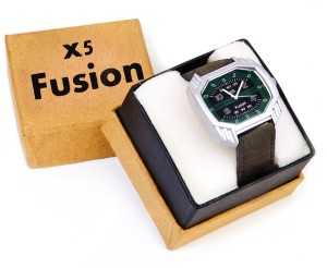 X5 Fusion GRN_SQRE_BOX Analog Watch  - For Men