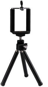 Sukot Extendable Leg Tilting Camera Tripod Stand + Mobile Holder Clip Selfie Holder Tripod Kit
