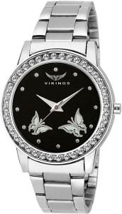 VIKINGS LADIES VK-LR-008-BLK-CHN Analog Watch  - For Girls