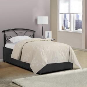 FurnitureKraft 5045 4ft Prince Metal Single Bed With Storage