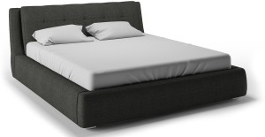Urban Ladder Stanhope Hydraulic Upholstered Engineered Wood King Bed With Storage