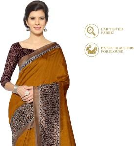 671904eae6915a Divastri Printed Fashion Polyester Art Silk Saree Mustard Best Price in  India | Divastri Printed Fashion Polyester Art Silk Saree Mustard Compare  Price List ...