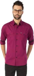 Rodid Men's Solid Casual Purple Shirt