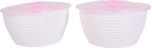 TRUENOW VENTURES Pvt. Ltd Round Shape AIRTIGHT With Lid Ceramic Bowl Set