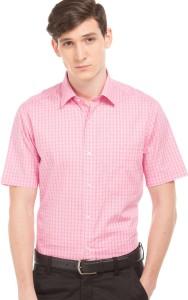 Arrow Men Checkered Casual Pink Shirt