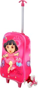 HSR Red 3D Design Children's Trolley Bag Small Travel Bag
