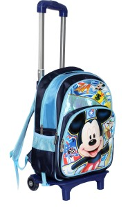 HSR Blue 3D Unique Design Children's Trolley Bag Small Travel Bag