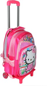 HSR Pink 3D Design Kids Children's Trolley Bag Small Travel Bag