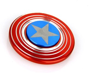 ACUTAS Captain America Shield Metal Hand Fidget Spinner Stress Reducer Anti Anxiety for Children / Adults Fidget (1 Pieces)Red