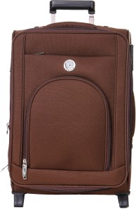 emblem Suitcase Metro 20Inch Brown Expandable  Check-in Luggage - 20 inch