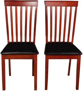 Woodness Solid Wood Dining Chair Set of 2, Finish Color   Mahogany