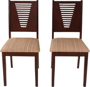 Woodness Solid Wood Dining Chair Set of 2, Finish Color   Wenge