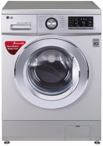 LG 9 kg Fully Automatic Front Load Washing Machine Silver