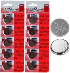 balrama Battery - Micro Lithium Cell CR2032 Coin Battery 3v Computer  Motherboard CMOS Battery Cell PACK of 10Silver