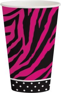 Funcart Pink Zebra 12oz Cups 310CUP