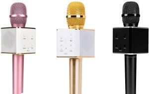 Rich Walker Combos of Portable Wireless Mic With Inbuilt Bluetooth Speaker Also Supports IOS,Android,Windows Microphone