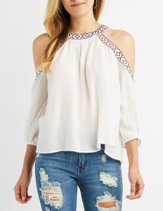 POISON IVY Casual 3/4th Sleeve Solid Women's White Top