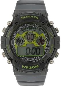 Sonata NH77006PP02J Digital Watch  - For Men
