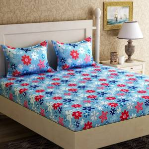 Zesture 104 TC Cotton Double Floral Bedsheet