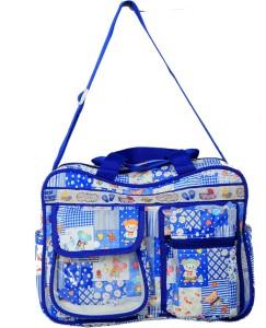 Kuber Industries Mama S Bag Baby Carrier Diaper Travelling Nursery Bagblue