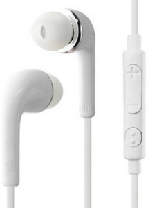 SHOPCRAZE Earphones WIth Mic, Handsfree Headset With Deep Bass And Music Equalizer (White) Wired Headset With Mic