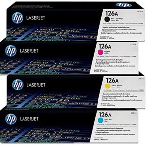 HP HP 126A Color CP1020 CP1025NW Toner E310A CE311A CE312A CE313A Cartridges Combo - 4 Pack (BCMY) Multi Color Toner