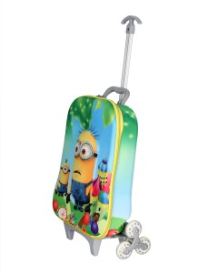 HSR Stylish 3D Design Children's Trolley Bag Small Travel Bag