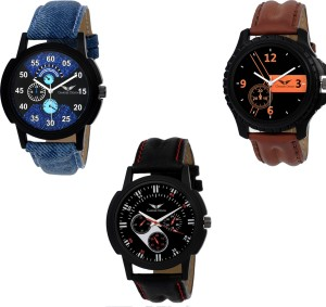 Gargee Design New 355142 Combo of 3 ,Eye Catchy, Value For Money, friendship gift in watches Analog Watch  - For Boys