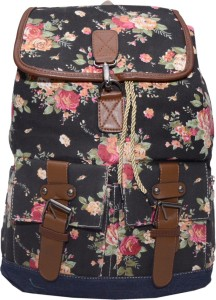 Ruff Canvas Printed Backpack Women Casual Backpacck 4.5 L Backpack