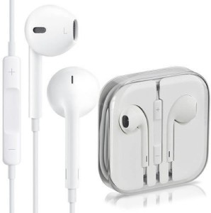 SHOPCRAZE HEADSET High Quality Earphone for iPhone 6/5/5S/5C EarPod Handsfree Wired Headset With Mic (White) Wired Headset With Mic