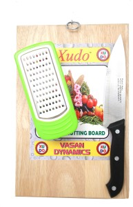 Xudo Wooden Vegetable Cutting Board With Knife And Cheeser