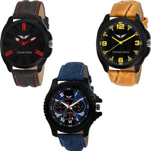 Gargee Design New 233524 Combo of 3 ,Eye Catching,Value for Money , Pre GST Stock clearance Analog Watch  - For Boys