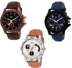 Gargee Design New 412235 combo of 3 ,Eye Catching ,Value for Money, friendship gift in wrist watches Analog Watch  - For Boys