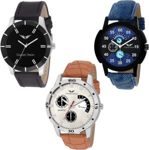 Gargee Design New 212234 Combo of 3 ,Eye Catching, Value for Money,friendship gift in wrist watches Analog Watch  - For Boys