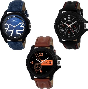 Gargee Design New 324352 Combo of 3 ,Eye Catching ,Value for Money , friendship gift in wrist watches Analog Watch  - For Boys