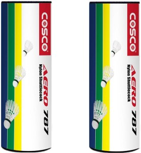 Cosco Aero 787 Badminton Nylon Shuttle  - Brown, Yellow