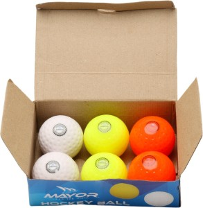 852d82c717b Mayor Stanford Hockey Ball Size 5 Pack of 6 Multicolor Best Price in ...
