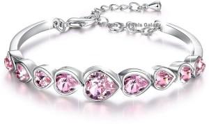 Jewels Galaxy Copper Swarovski Crystal Platinum Charm Bracelet