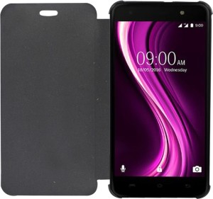 competitive price 95595 5c4fc COVERNEW Flip Cover for Micromax Bolt Q327 Black Flip Cover Best ...