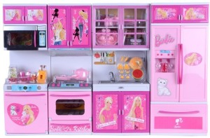 Techhark Pink Barbie Modern Kitchen Set Toy For Kids Best Price In India Techhark Pink Barbie Modern Kitchen Set Toy For Kids Compare Price List From Techhark Dolls Doll Houses 16398258 Buyhatke