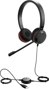 Jabra EVOLVE 30 with 3,5mm UC Stereo Wired Headset with Mic Black, Over the Ear