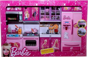 382c1c445d3 Techhark Dream House Kitchen set barbie sticker battery operated light  music kitchen set for kids Best Price in India