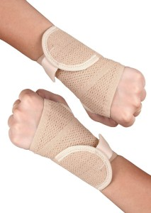 Healthgenie wrist Brace with Thumb Elastic (Pack of 2) Wrist Support (Free Size, Beige)