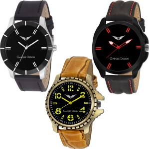 Gargee Design GD 20010506 Combo 3 Lavish Pre-GST Stock Clearance Analog Watch  - For Men