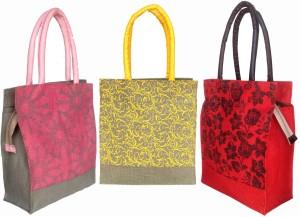 foonty jute bag /multipurpose handbags/pack of 3 jute Lunch Bag