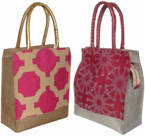 foonty jute bag /multipurpose handbags/pack of 2 jute Lunch Bag