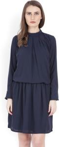 Tokyo Talkies Women Gathered Dark Blue Dress