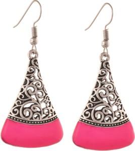 Zephyrr Fashion Ethnic Hook Earrings with Cutwork design for Girls and Women Alloy Dangle Earring