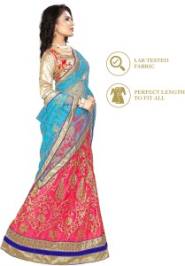 8c54459c51 Divastri Net Embroidered, Embellished Semi-stitched Lehenga Choli Material